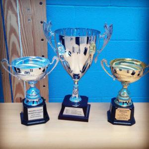 Bridgend badminton league trophies